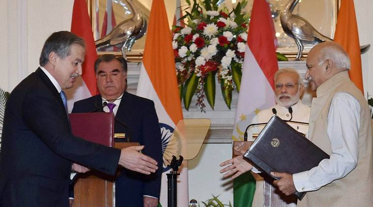 Tajikistan, Tajikistan president in india, pm modi Tajikistan, modi Tajikistan President, Emomali Rahmon, communication pact, india-tajikistan pact, Public broadcaster Prasar Bharati, prasar bharati, Tajikistan's Committee on TV and Radio, Tajikistan President India, india news