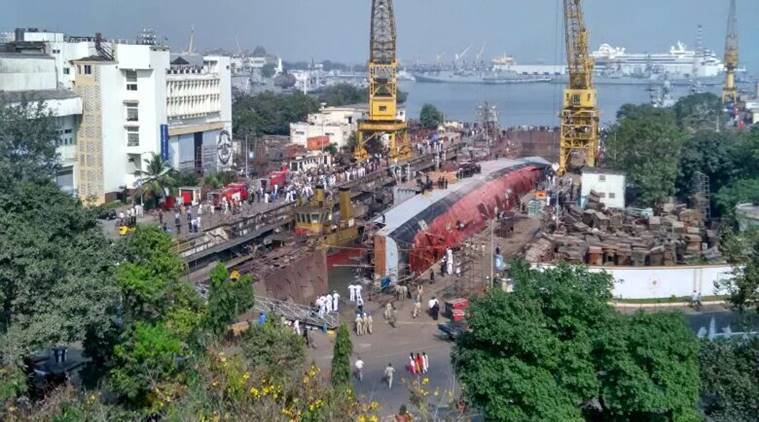 INS Betwa, INS Betwa accident, Guided missile frigate, INS Betwa dockyard, indian Navy, india news, indian express