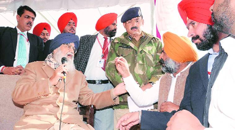 Paragat Singh, former SAD MLA, Singh stages sit-in, Chief Minister Parkash Singh Badal, CM Parkash Singh Badal, CM Badal, Jalandar, regional news, Indian Express