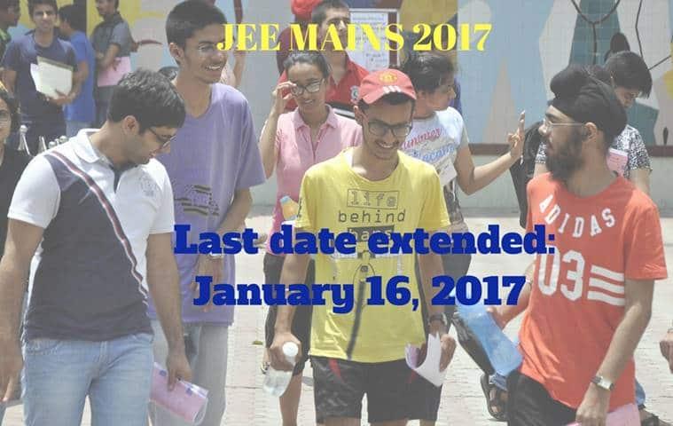 JEE Mains 2017, JEE Main exam, jeemain.nic.in, JEE exam, IIT JEE, JEE last date, JEE exam dates, JEE exam notice, education news, indian express news