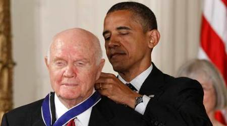 John glenn, john glenn death, obama, NASA, Barack obama, donald trump, American astronaut, astronaut, astronaut john glenn, john glenn NASA death, international space station, Atlas missile, latest news, latest world news