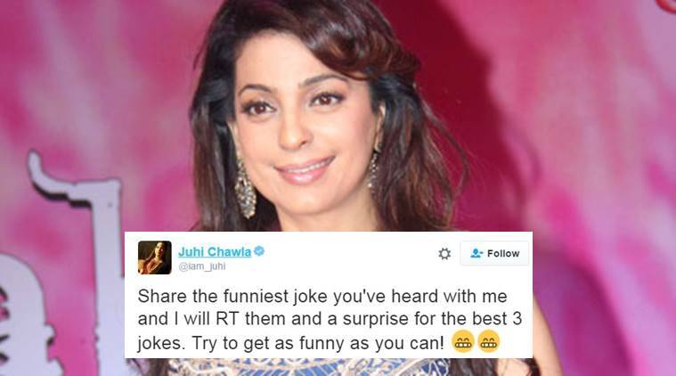 Juhi Chawla asked people to share jokes with her and they did