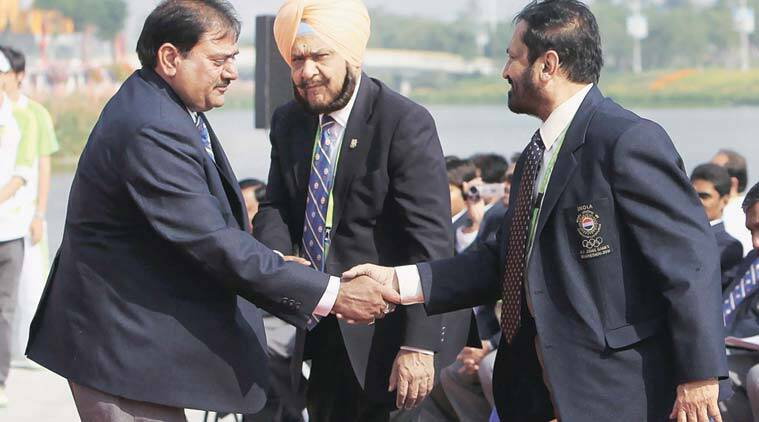 Veteran sports administrators Suresh Kalmadi (right) and Abhay Singh Chautala (left) have faced charges of corruption.