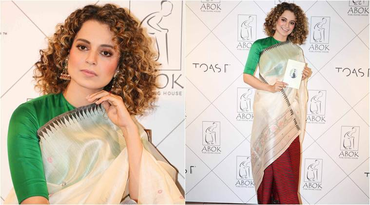 kangana Ranaut, kangana ranaut sari look, manipuri saree, manipuri phanek, kangana ranaut style, manipuri saree, celebrity fashion, bollywood fashion, fashion news, lifestyle news, indian express