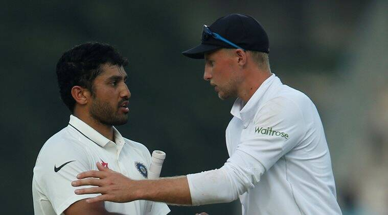 Chennai Test: India 582-5, Nair on verge of double ton