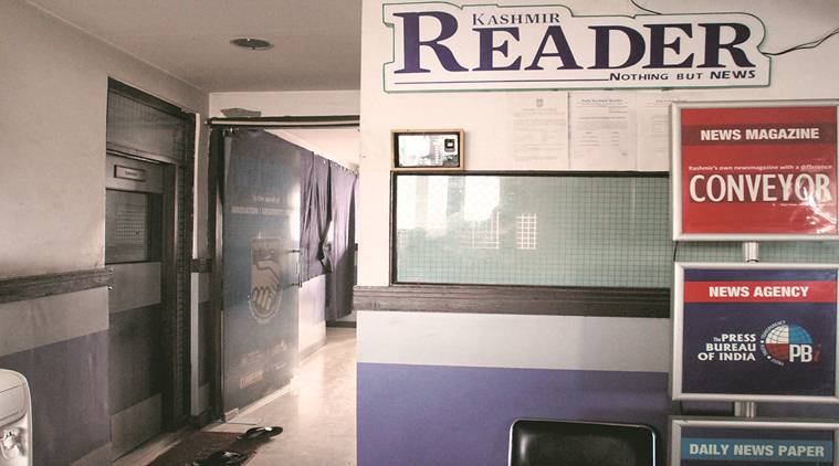 Kashmir reader, press banned in Kashmir, Kashmir crisis, Kashmir unrest, Kashmir media gagged, J-K news, Jammu and Kashmir, Indian Express, India news