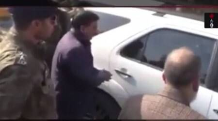 J&K: Banned black film removed from VC's vehicle, teachersprotest