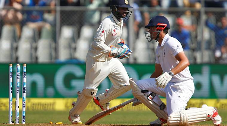 Score of today test match india vs england