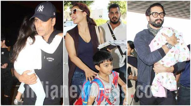 Akshay Kumar and Twinkle, Kajol, Shahid Kapoor leave for vacation with their families