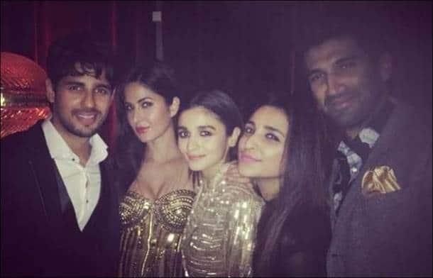 Katrina Kaif, Parineeti Chopra, Aditya Roy Kapur, Sidharth Malhotra, Alia Bhatt