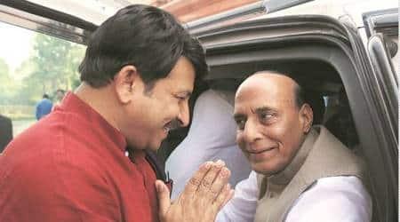 Delhi BJP chief Manoj Tiwari meets Rajnath over SSC paperleak