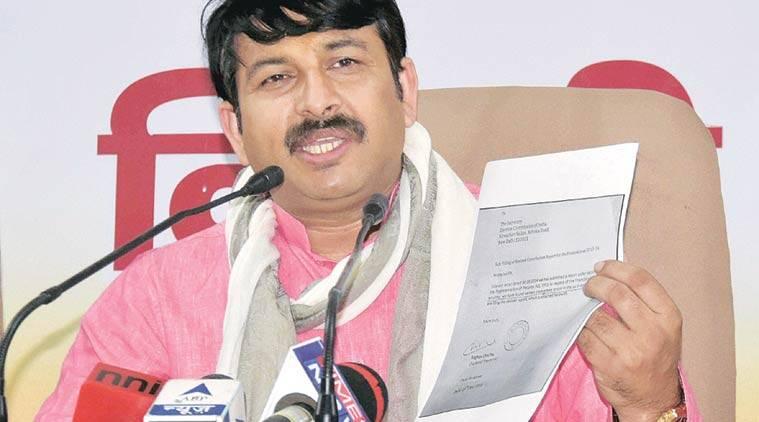 Manoj Tiwari, BJP, AAP, AAP party funds, AAP funds, AAP news, BJP news, Delhi BJP, Delhi news, India news