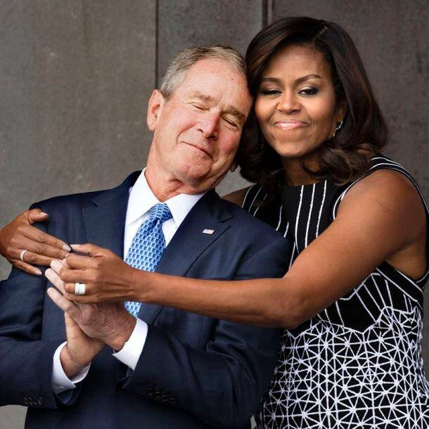 michelle-and-bush-hug