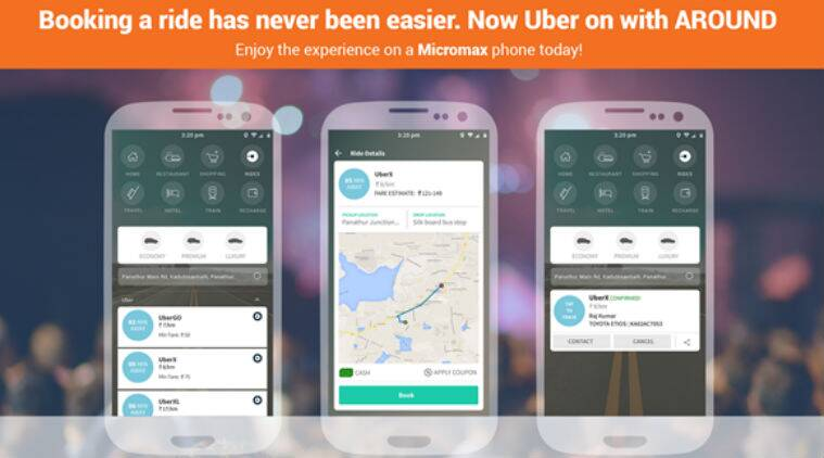 Micromax partners with Uber to integrate its services in AROUND
