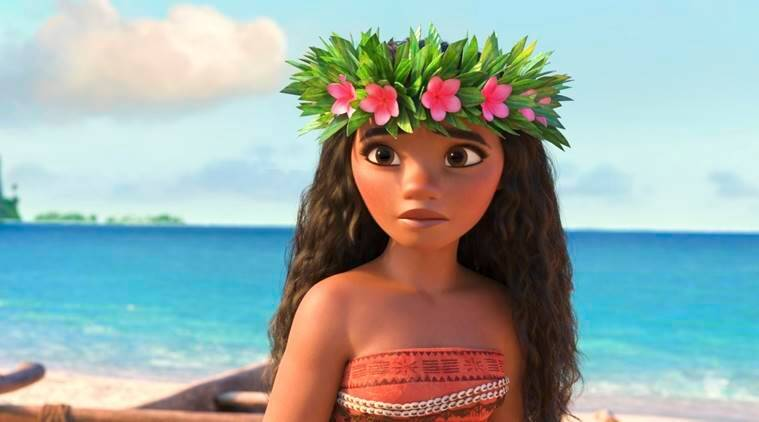 "This image released by Disney shows Moana, voiced by Auli'i Cravalho, in a scene from the animated film, ""Moana."" (Disney via AP)"