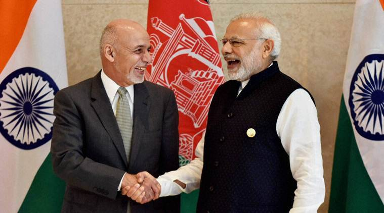 narendra modi, modi, Ashraf Ghani, SCO, SCO summit, OBOR, sco terrorism, indian express, india news