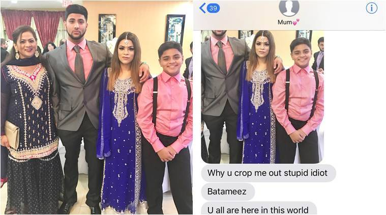 mom funny messages, mother funny messages, parents online conversation, mother funny online conversation, girl crop mother out, parents photo cropping recation, viral news, trending news, latest news, indian express