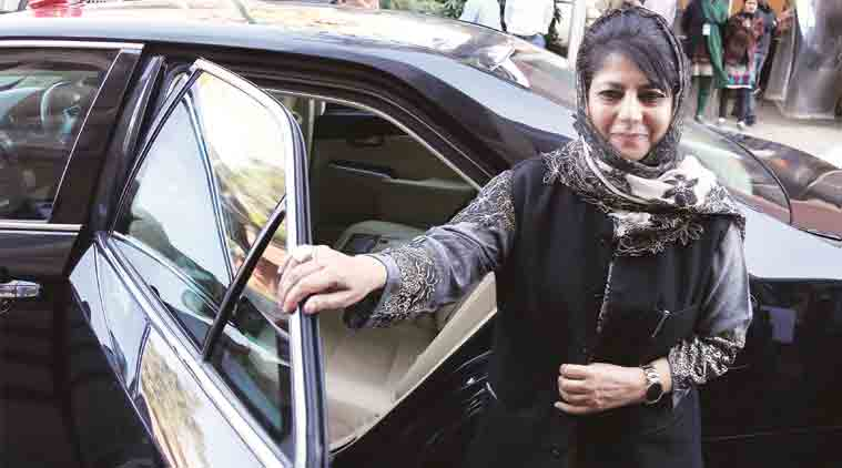 Jammu and Kashmir chief minister Mehbooba Mufti during the Parliament on 28th Nov. 2016.   (Express Photo: Renuka Puri)