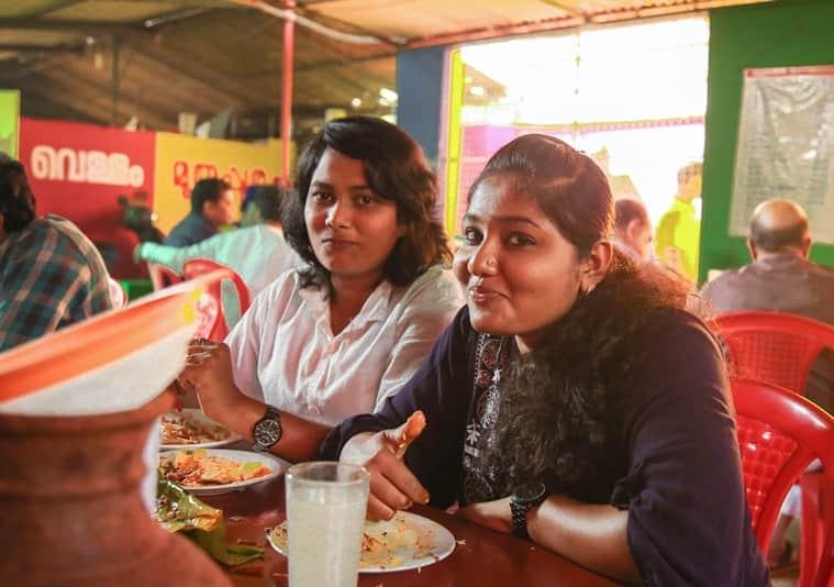 Women tipple at Mullapanthal's.