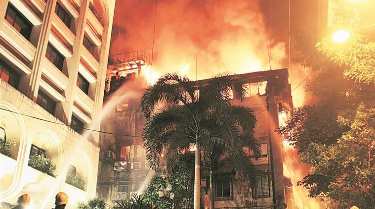 mumbai, mumbai fire, mumbai fort fire, JK Somani building fire, mumbai news, latest news