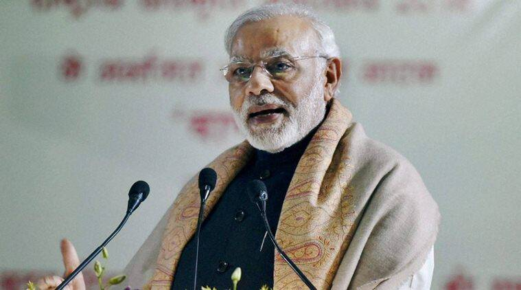 Varanasi: Prime Minister Narendra Modi addresses the gathering in Banaras Hindu University in Varanasi on Thursday. PTI Photo(PTI12_22_2016_000041B)