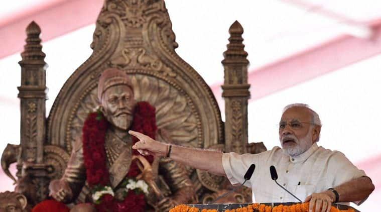 narendra modi, Shivaji, Shivaji memorial, narendra modi mumbai, Shivaji narendra modi BKC, Chhatrapati Shivaji Maharaj, india news, indian express