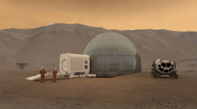 Nasa, Mars ice houses, Astronauts housing on mars, living on mars, Mars exploration, Ice houses on mars, Sustainable housing, living on the Red planet, Science, Science news