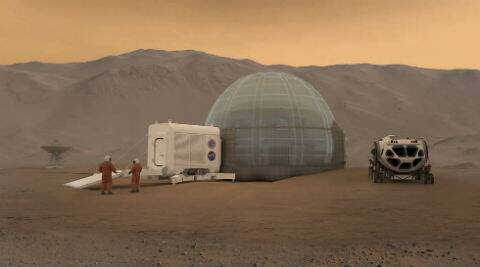 NASA shows off 'icy' concept homes for astronauts on Mars