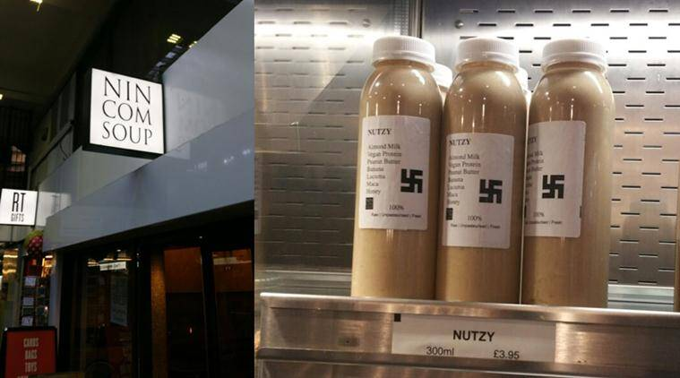 nazi, nazi smoothies, london cafe nazi drink, nazi symbol drinks, london nazi symbol drink, nutzy swastika drink, food news, london news, lifestyle news, world news, latest news, trending news
