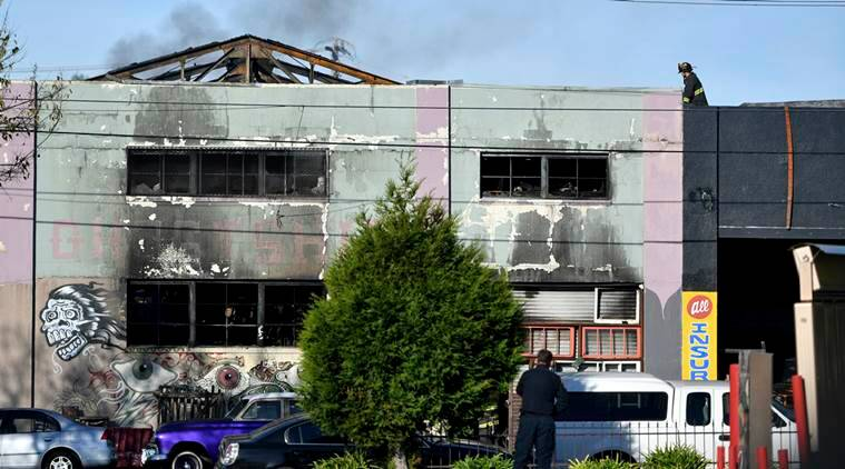 oakland fire, fire, us fire, warehouse fire, warehouse, oakland warehouse, california warehouse, fire in oakland, fire accident, california fire accident, oakland fire accident, world news