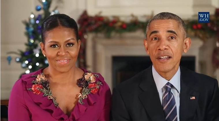 christmas, barack obama, michelle obama, white house, white house christmas message, obama final christmas message, obamas 2016 christmas message, christmas news, world news, latest news, Indian express