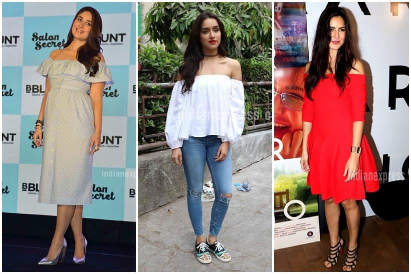 kareena kapoor, deepika padukone, sonam kapoor, katrina kaif, shraddha kapoor, fashion trends 2016, 2016 fashion trends, chokers, off shoulders, indian express, indian express news, fashion, lifestyle
