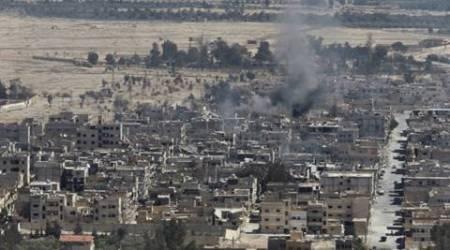 Syria, islamic state, air strikes, syria air strikes, islamic state air strikes, IS air strikes, world news, indian express