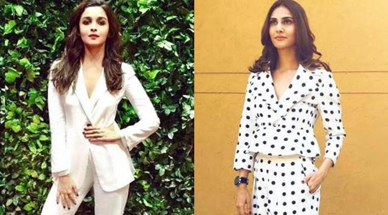 The year of the pantsuits: Alia Bhatt (L) and Vaani Kapoor rock the pantsuit look.