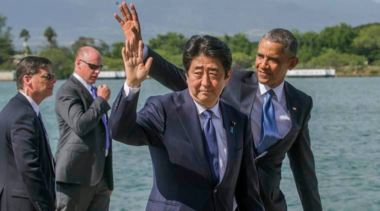Barack obama, Shizo Abe, Japan-US ties, Japan pearl harbor, obama pearl harbor visit,  Donald Trump, US nuclear power, tribute to pearl harbor martyrs, world news, indian express news