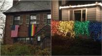 Rainbow lights, pride flags are part of Americans' protest against homophobics