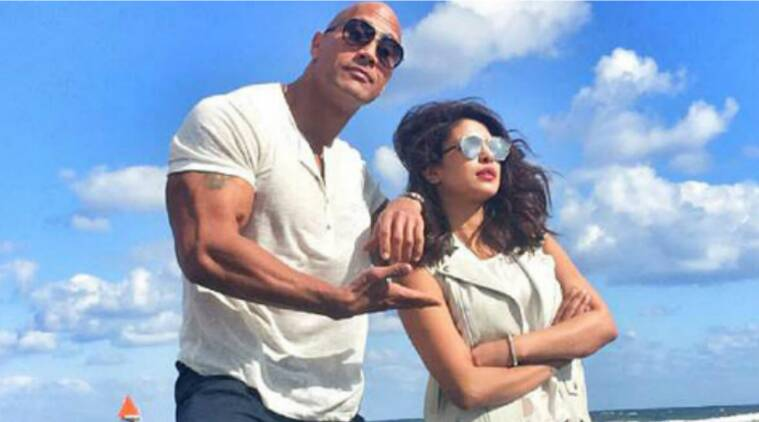 baywatch postponed, baywatch pushed, baywatch release date, baywatch pirates of the caribbean, baywatch priyanka dwayne, baywatch posters, priyanka chopra baywatch, priyanka chopra hollywood, baywatch news, priyanka chopra news, entertainment updates, indian express, indian express news