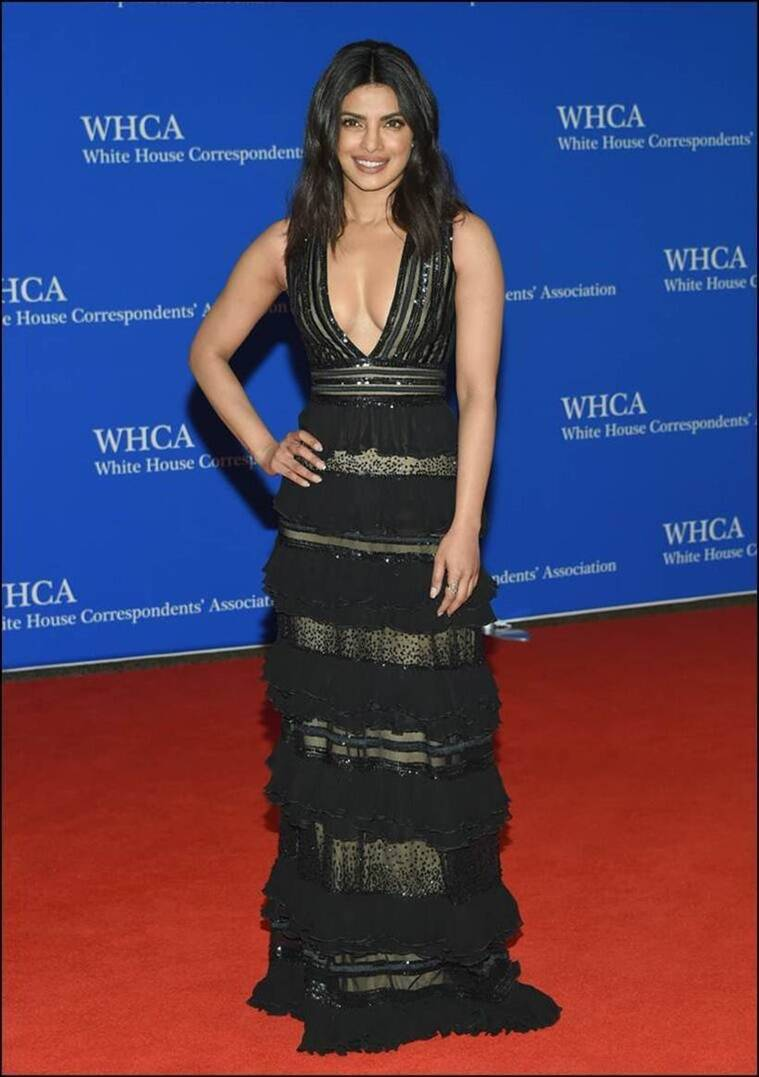Priyanka Chopra in Zuhair Murad. (Source: AP)