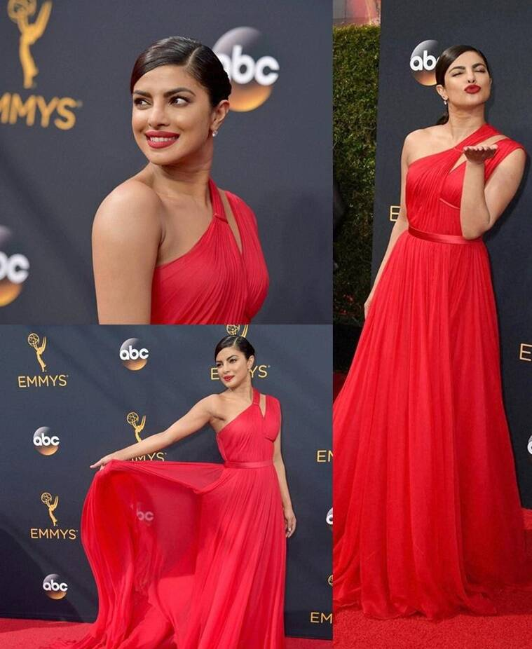 Priyanka Chopra in Jason Wu. (Source: AP)