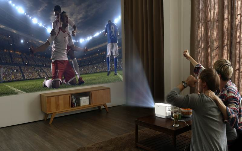 LG ProBeam's dynamic settings make it ideal for indoors and outdoors.