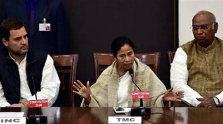 Mamata, Rahul target govt, but only 8 Oppn parties attend joint press meet; BJP hits back, calls it a 'flopshow'