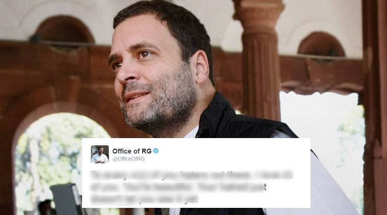 Rahul Gandhi's twitter accoun was hacked and profane content was posted