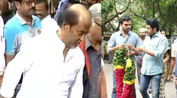 Rajinikanth, Suriya and other Kollywood celebrities pay tribute to Cho Ramaswamy