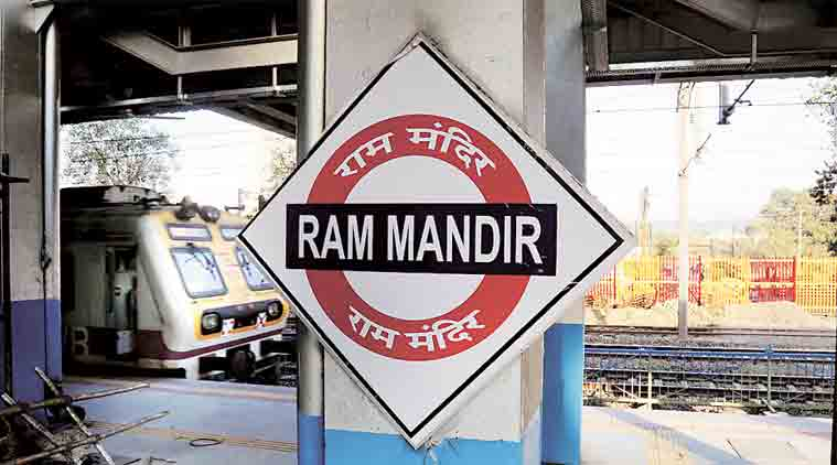 Ram Mandir Mumbai station, Ram Mandir station, Suresh Prabhu, Prabhu, Shiv Sena, BJP, BMC polls, Mumbai, indian express news