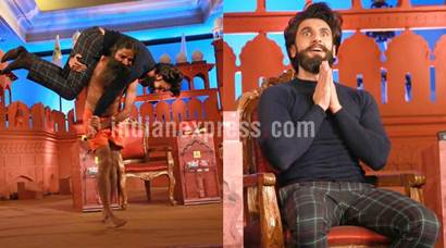 When Ranveer Singh surrendered in front of Baba Ramdev with folded hands