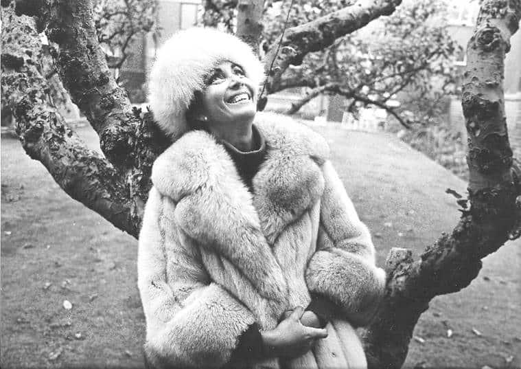Reita Faria at her home in Dublin in the winter of 1980.
