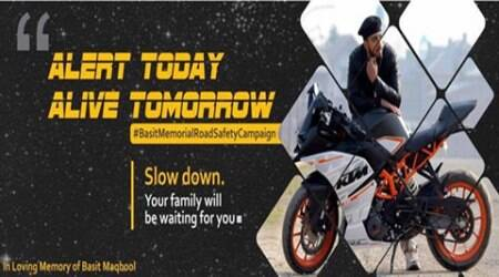 Death of teenager inspires road safety campaign inKashmir
