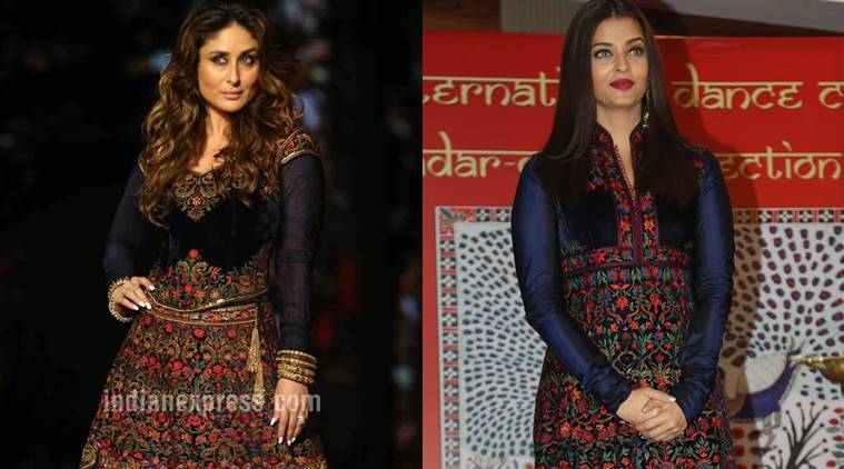 Both Kareena Kapoor Khan (L) and Aishwarya Rai Bachchan in Rohit Bal. (Source: Express photos)