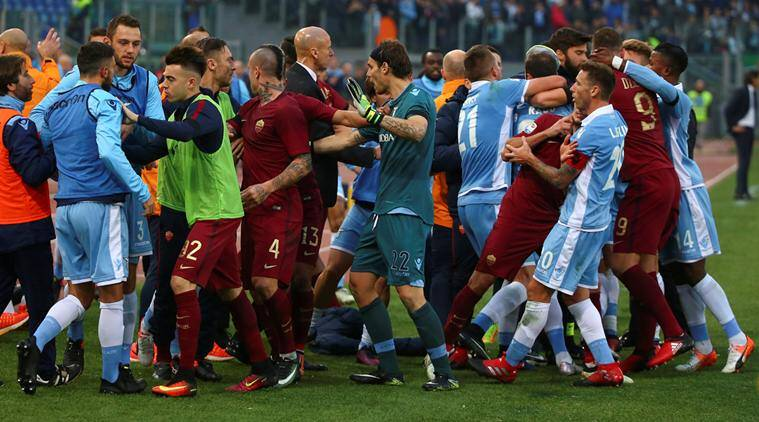 Roma beat Lazio 2-0 in heated derby | Sports News,The Indian Express