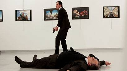 Russian envoy Andrei Karlov shot dead in Ankara by 22-year-old Turkish policeman